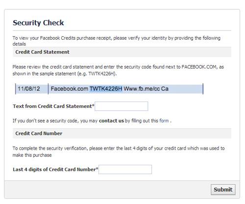 ใบเสร็จรับเงินจาก Facebook