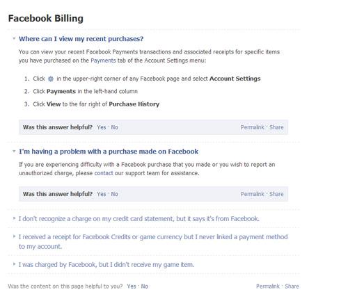 ใบเสร็จรับเงินจาก Facebook ads