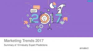 marketing trend 2017