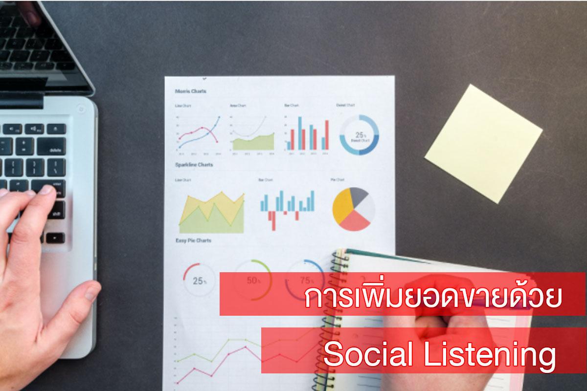 การเพิ่มยอดขายด้วย Social Listening