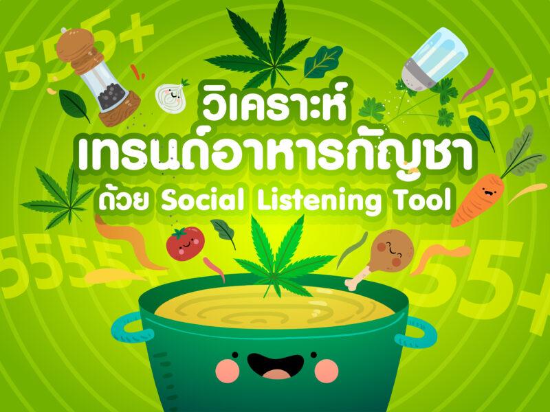 วิเคราะห์เทรนด์อาหารกัญชาด้วย Social Listening Tool