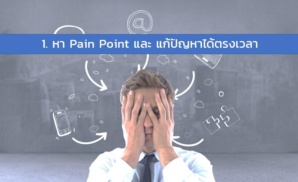 หา Pain point ของตลาดให้เจอ